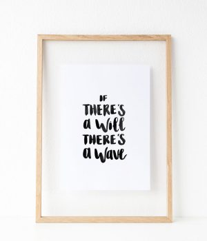 Will Of The Waves Art Print