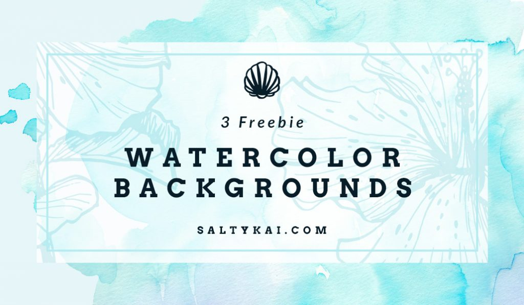 3 freebie watercolor backgrounds