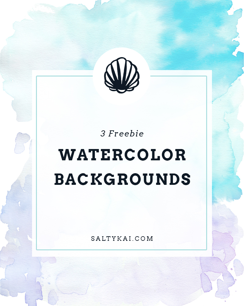 Salty Kai Watercolor Backgrounds
