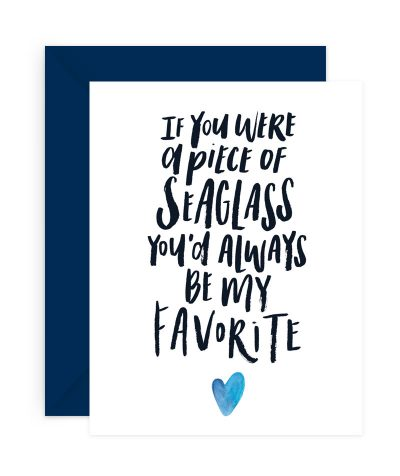 Favorite Seaglass Stationery Card