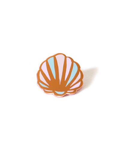 Pastel Clam Shell Pin