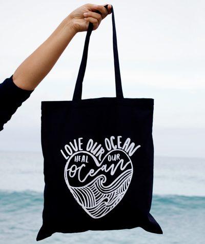 Love Our Ocean Tote Bag