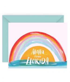 Aloha From Florida Stationery Card