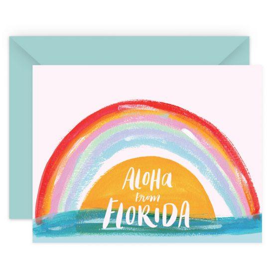 Aloha From Florida Stationery Card