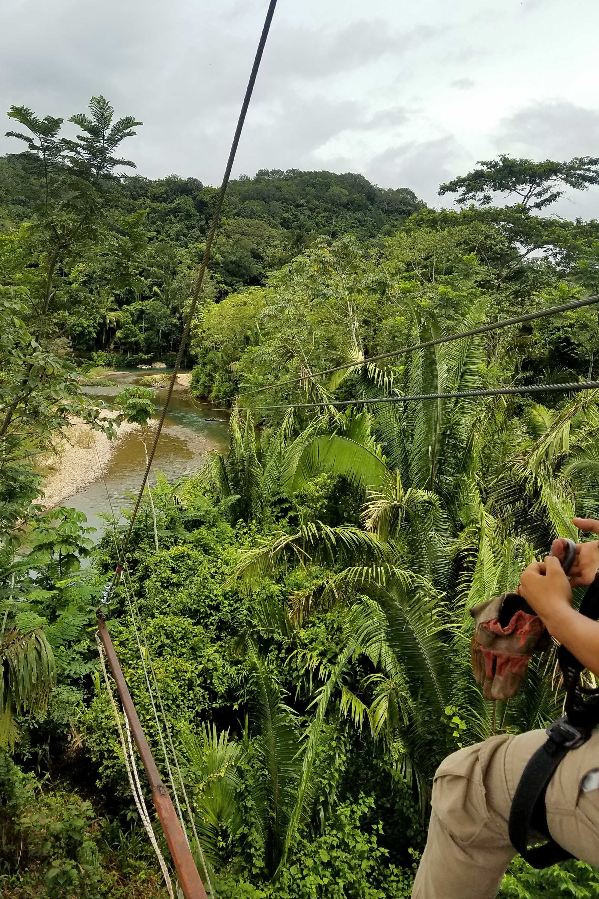 Zip-lining in Belize