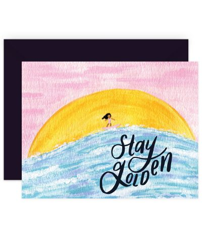 Stay Golden Stationery Card