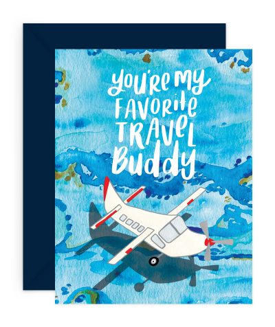 Travel Buddy Stationery Card