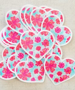A stack of Flower Paradise stickers