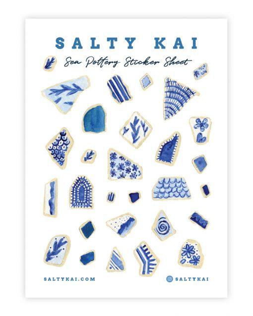 Salty Kai Sea Pottery Sticker Sheet