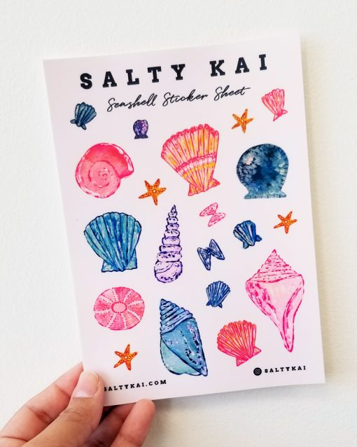Handing holding Seashell Sticker Sheet