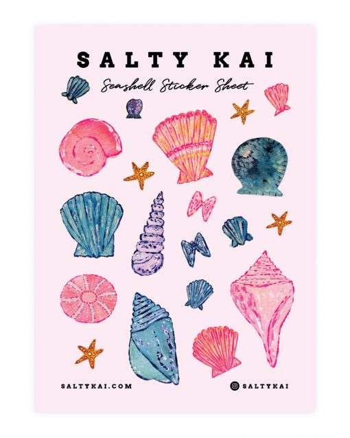 Salty Kai Seashell Sticker Sheet