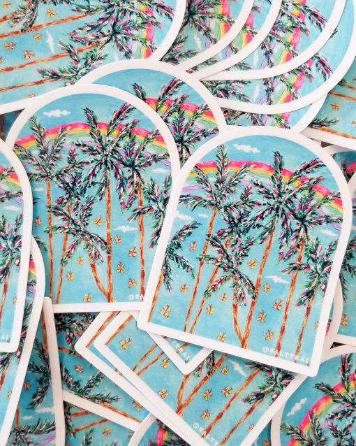 Pile of Sunshine & Rainbows stickers