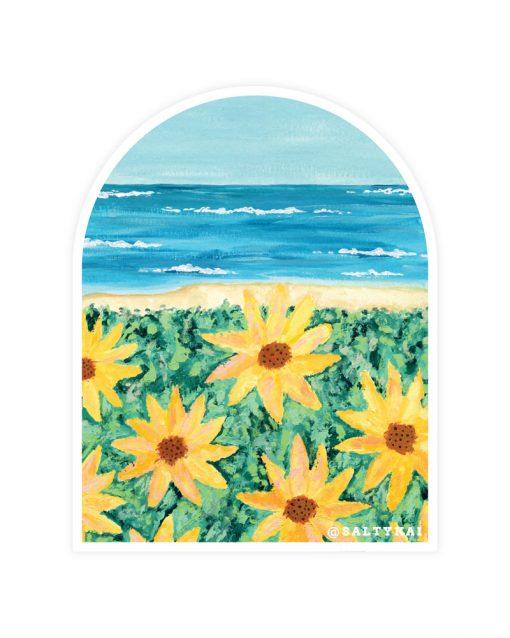 Sunflowers on the Beach Sticker