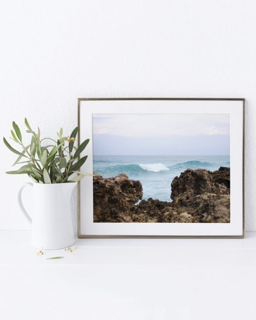 Catching Waves photo inside a frame